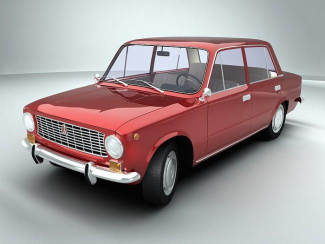 Вишневый автомобиль ВАЗ 2101