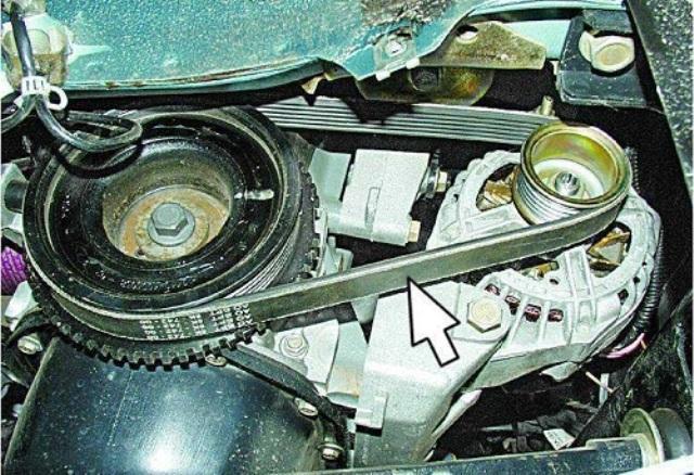 Расположение системы на ВАЗ 2110