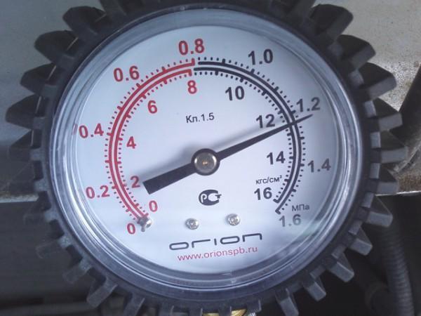 Нормальные показания компрессометра