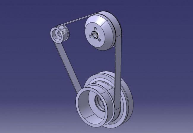 Так выглядит поликлиновый ремень на приводных роликах