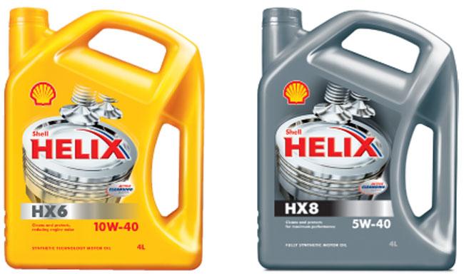Моторные масла Shell Helix HX6 и HX8