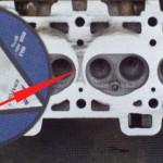 Дефекты на внутренней части ГБЦ до фрезеровки