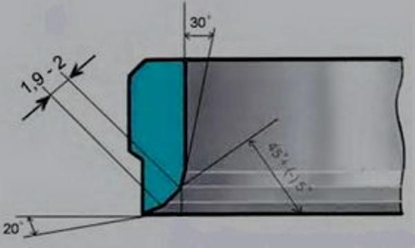 Схема для зенковки седла