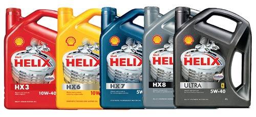 Пять видов смазывающего материала от производителя Shell