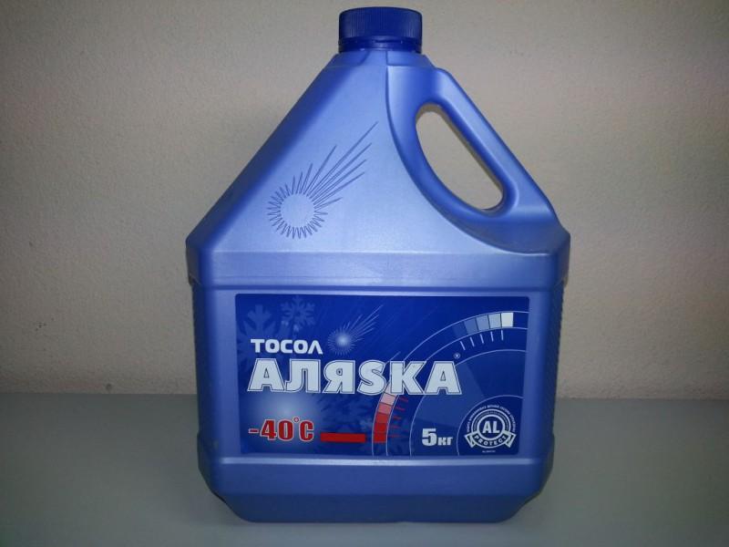Синий тосол от производителя Аляска