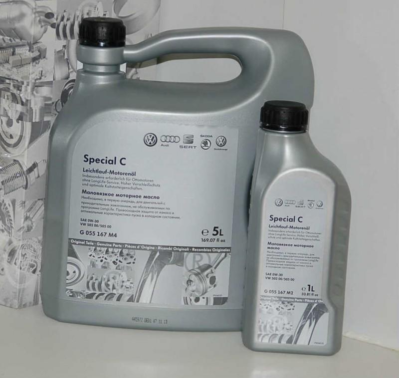 Оригинальная моторная жидкость для автомобилей Фольксваген