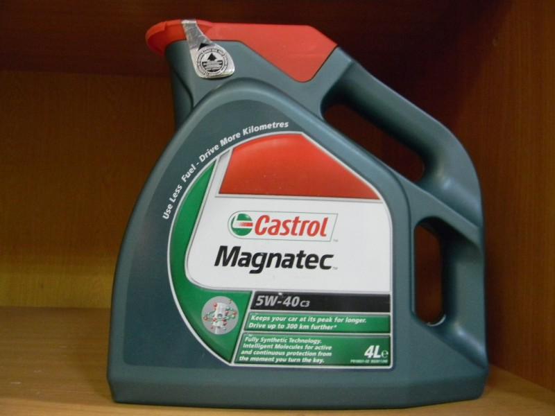 Моторная жидкость Castrol Magnatek в четырехлитровой канистре