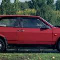 Красный автомобиль ВАЗ 2108