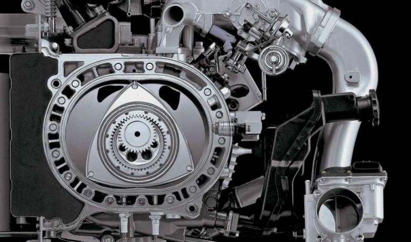 Так выглядит роторный двигатель в разобранном виде