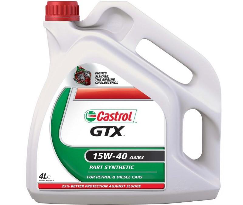 Моторная жидкость Castrol GTX в четырехлитровой канистре