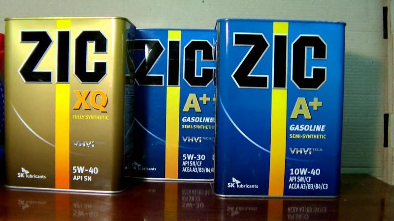 Моторные масла Zic видов XQ и A+