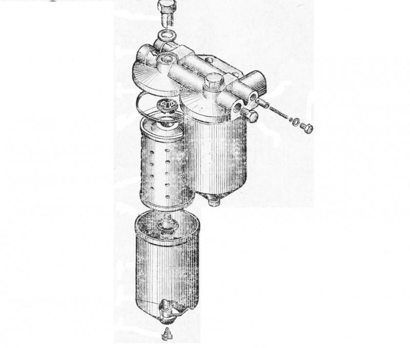 Схема устройства ТФ тонкой очистки