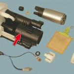 Замените ТФ с отстойником либо поменяйте сетку на насосе.