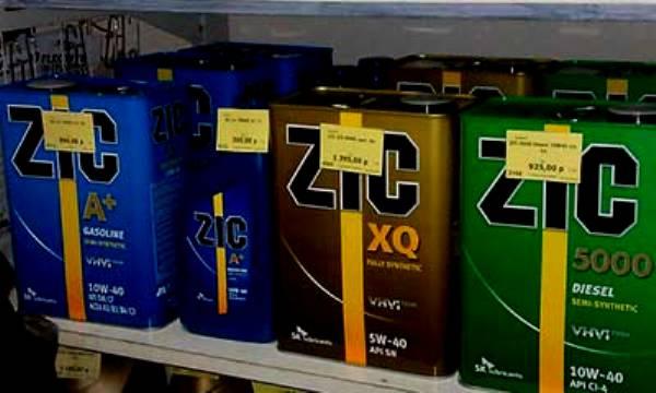 ZIC на полках магазина