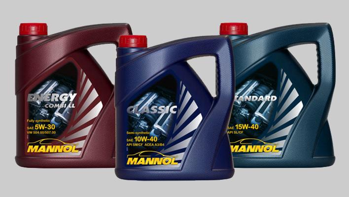 Три вида масла Mannol