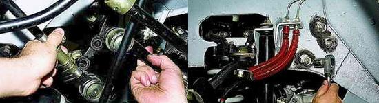Процесс демонтажа рулевого механизма на Ниве