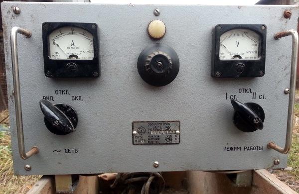 Устаревший вариант зарядного устройства АКБ - трансформаторный