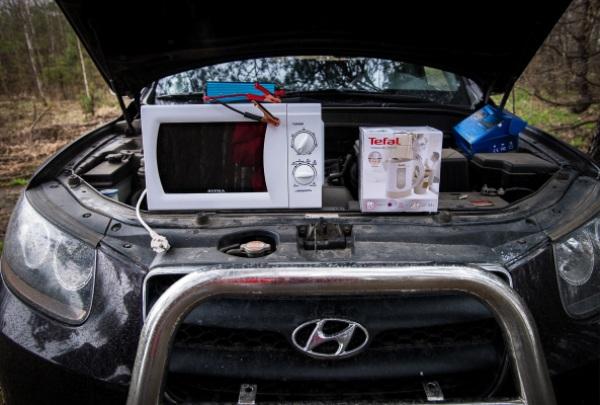 Микроволновка в авто
