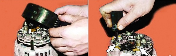 Отожмите защелки и демонтируйте крышку.