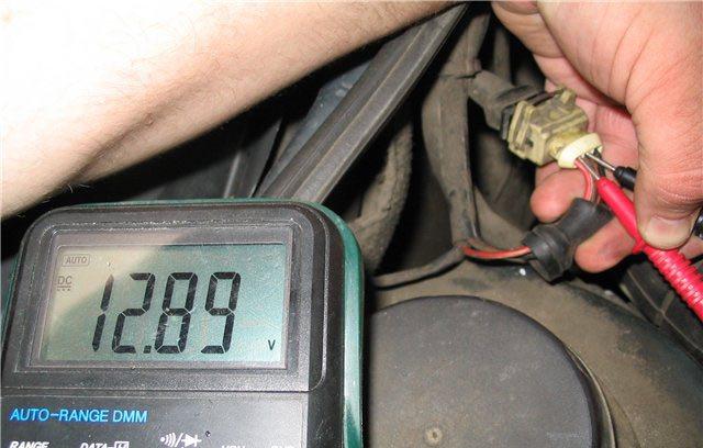 Диагностика кислородного датчика вольтметром