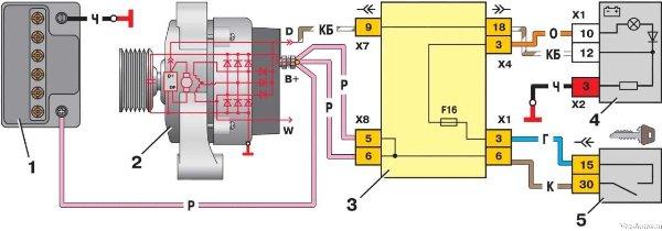 Схема работы устройства на ВАЗ