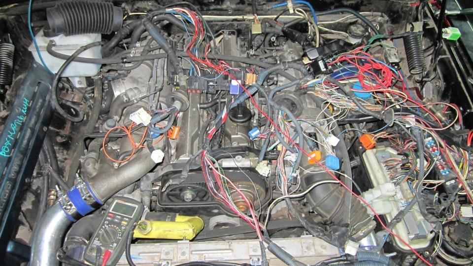 Электропроводка под капотом