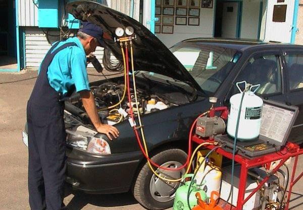 Заправка кондиционера авто