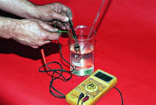 Проверка устройства мультиметром