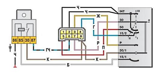 Схема зажигания 2109