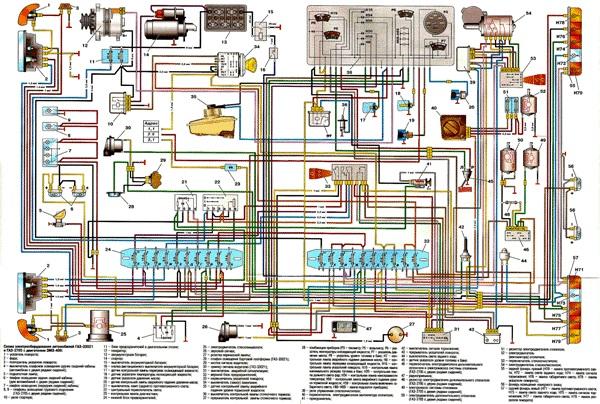 Схема автомобиля Газель