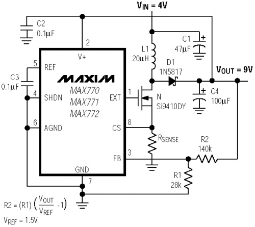 Схема механизма с применением импульсного устройства