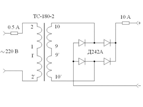 Схема для создания зарядного устройства