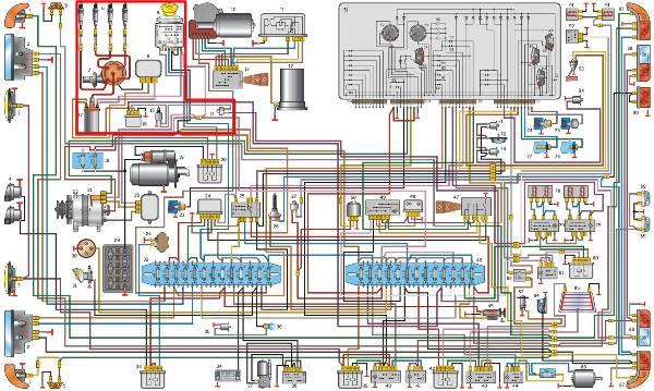 Схема проводки автомобиля Газель 405
