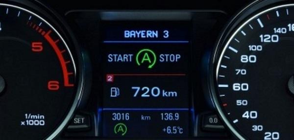Обозначение системы Старт-Стоп на панели приборов авто