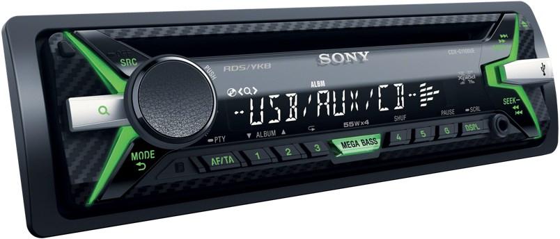 Передняя панель аудиосистемы Sony