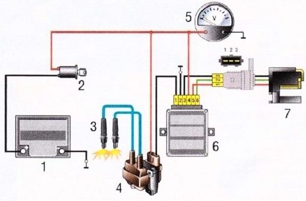 Схема работы устройства
