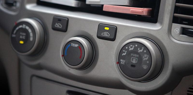 Кнопка рециркуляции воздуха в салоне