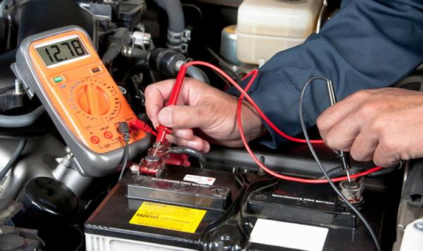 Измерение силы тока АКБ авто