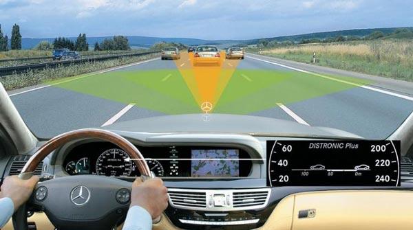 Радиус действия системы на автомобиле Мерседес