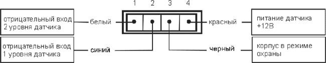 Схема, как правильно подсоединить детектор удара