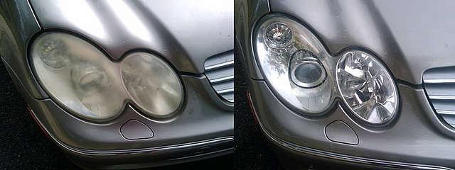 Автомобильная оптика до и после полировки