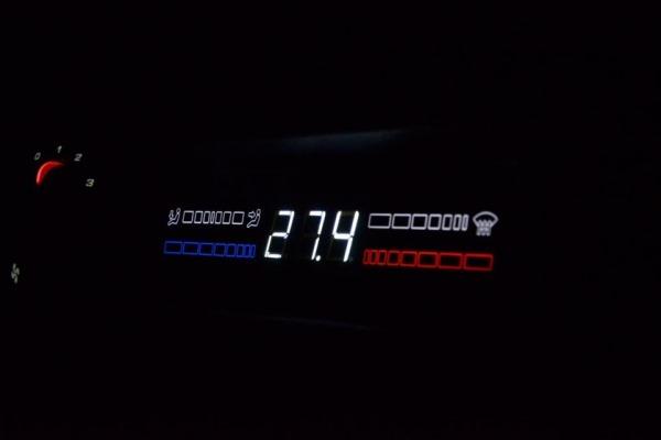 LED-подсветка печки 2109