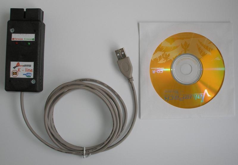 Адаптер для проверки с кабелем и диском с драйверами