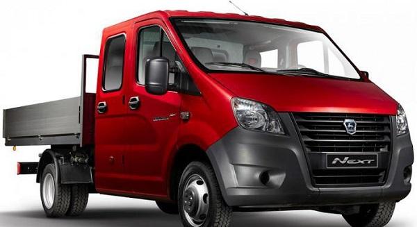 Красный автомобиль Газель