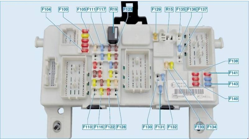 Электросхема блока с реле