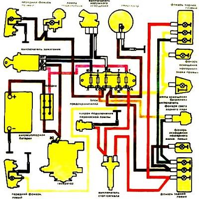 Схема освещения шестерки
