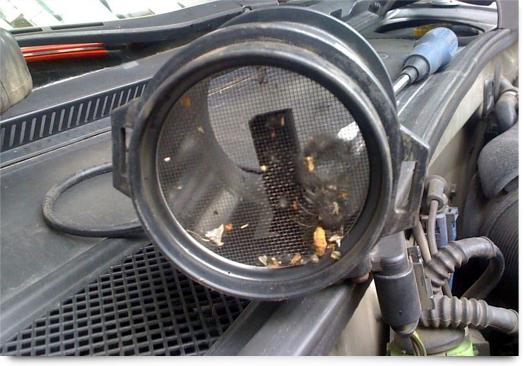 Засоренный регулятор расхода воздуха