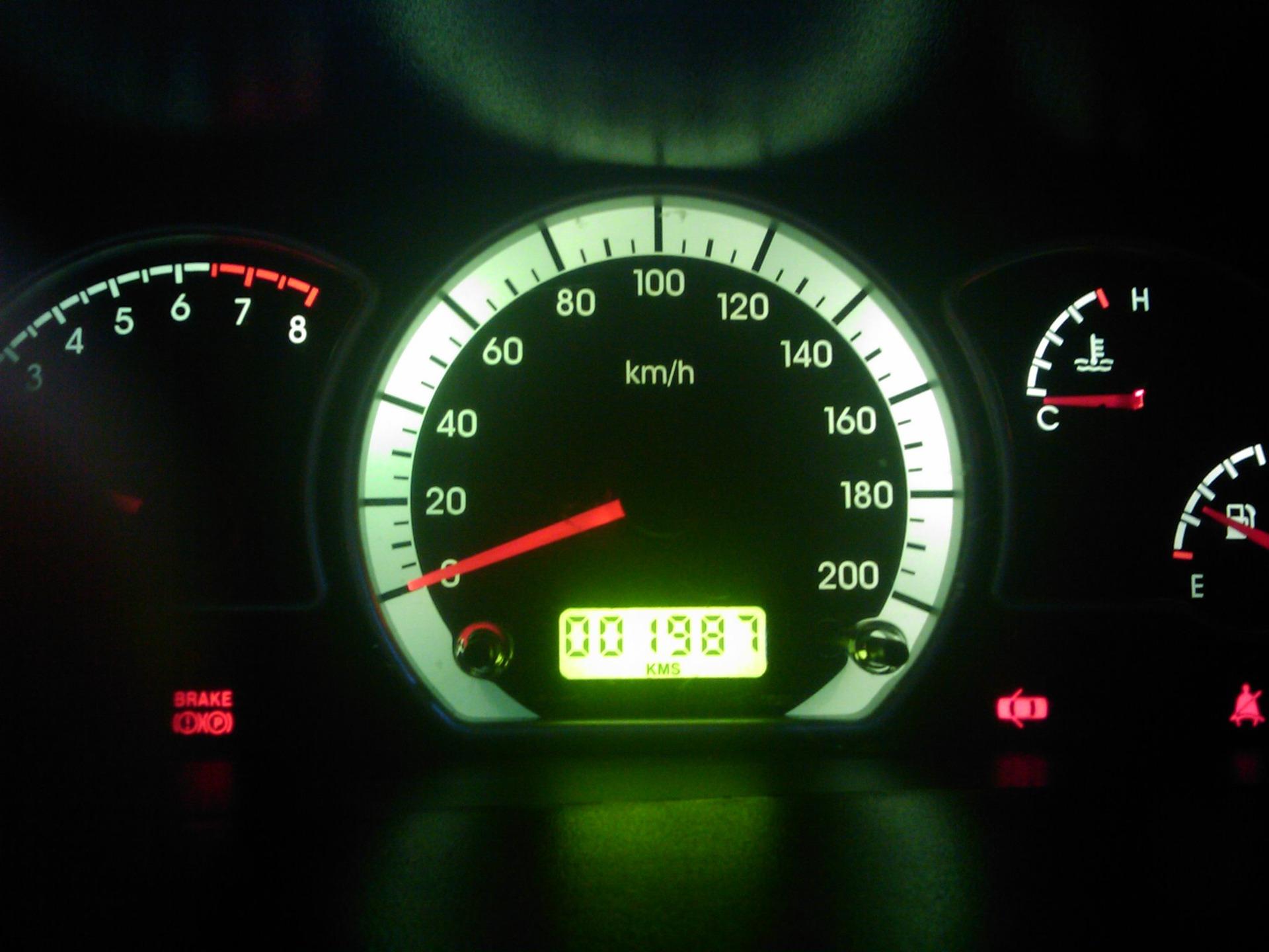 Контрольный щиток авто