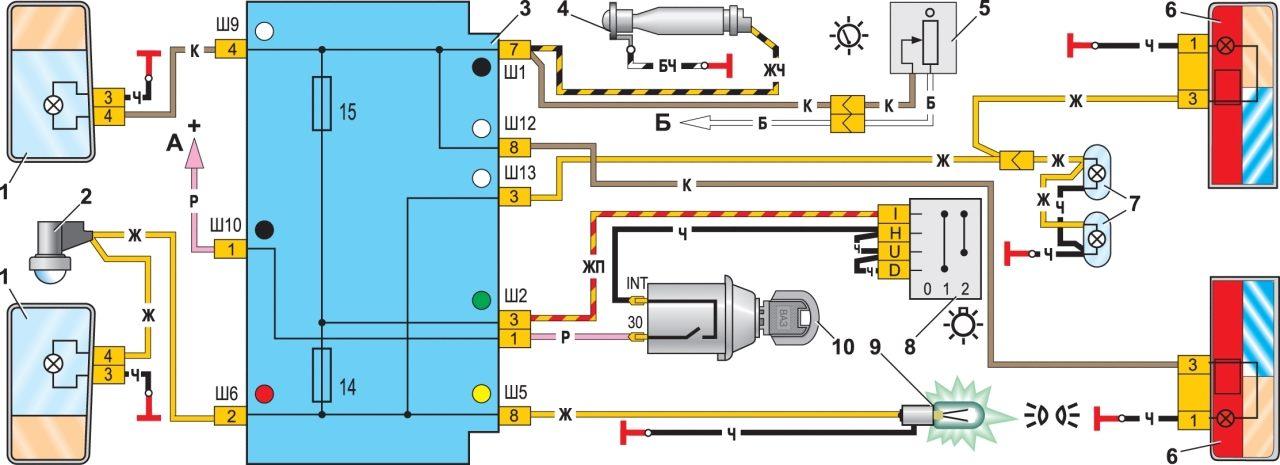 Схема наружного освещения