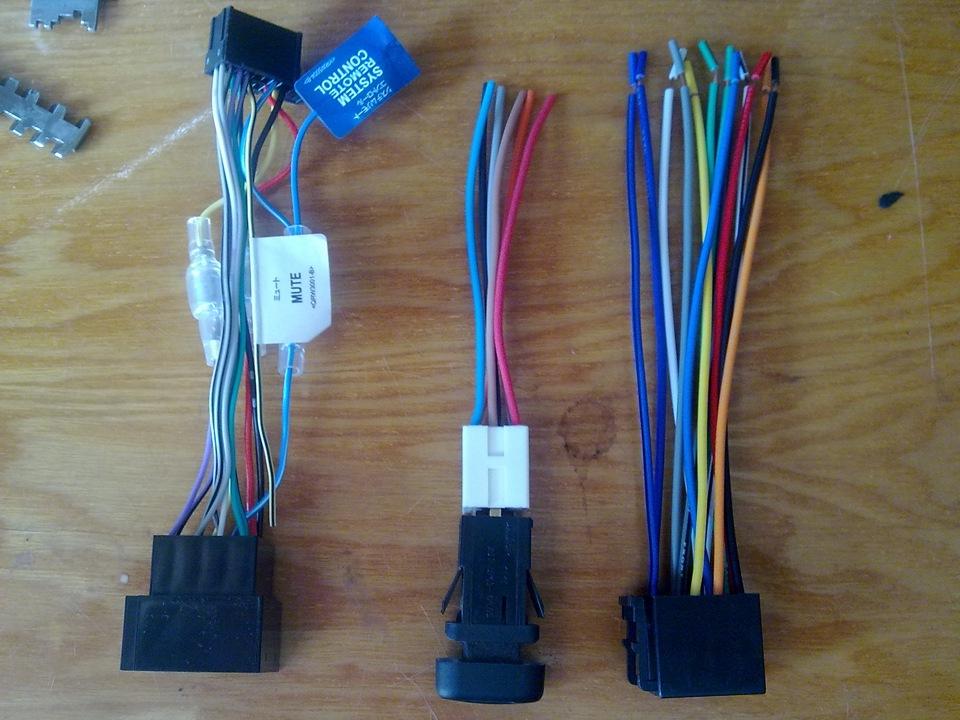 Типичная проводка для подключения автомагнитолы